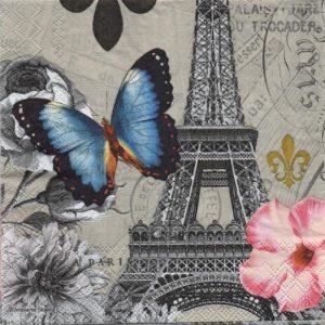Serviette papier papillon